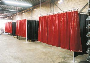 rideaux de soudure séparés